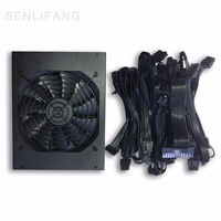 90 Plus Efficiency 1600W Modular PC Power Supply 12V 24PIN 8PIN For Miner Mining High Quality