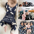 2016 Fashion Baby Romper Infant Newborn Bebes Boy Girl Clothes Autumn Winter Long Sleeve Christmas Moose Jumpsuit Rompers