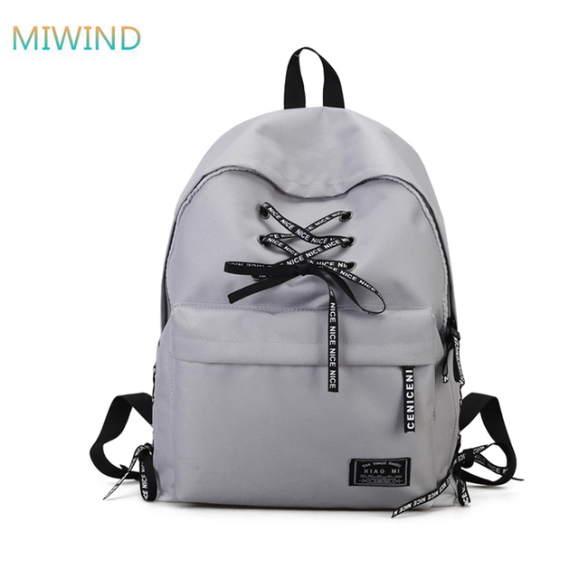 8ec8e11d19 MIWIND Brand New Patchwork Women Backpacks With Straps Girls Rucksack  Canvas Student Both Shoulders Backpacks Student Bags