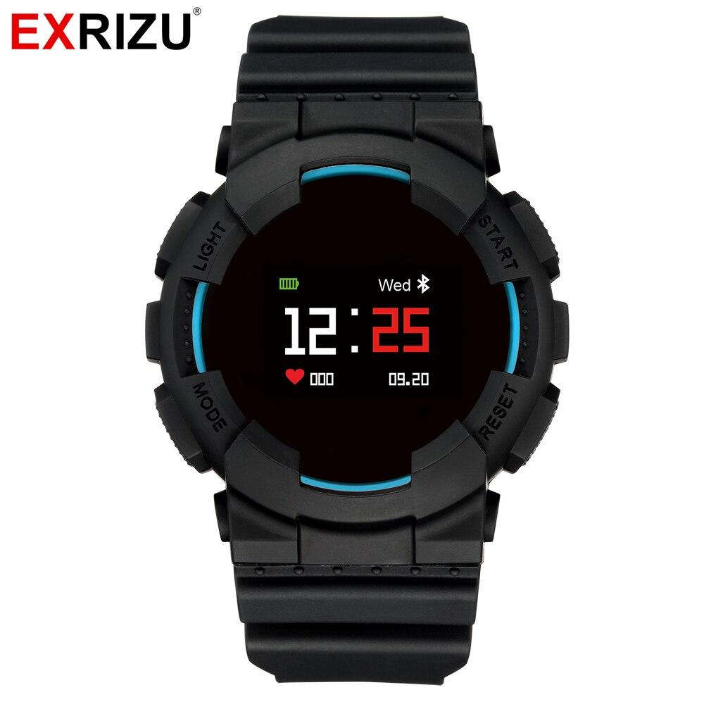 Montre intelligente Bluetooth EXRIZU modèle X mode podomètre Sport moniteur de fréquence cardiaque pas à pas Bracelet de Fitness Smartwatch pour iOS Android