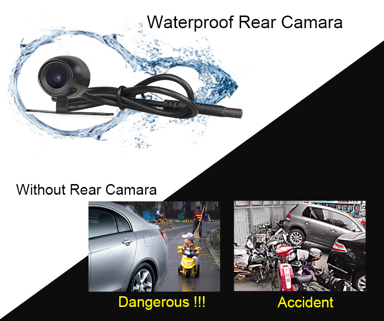 E-ACE Car Dvr 1080P Dual Lens Dash Camera Rear Mirror Digital Recorder With Rearview Camera Video Recorder Camcorder Registrar 12