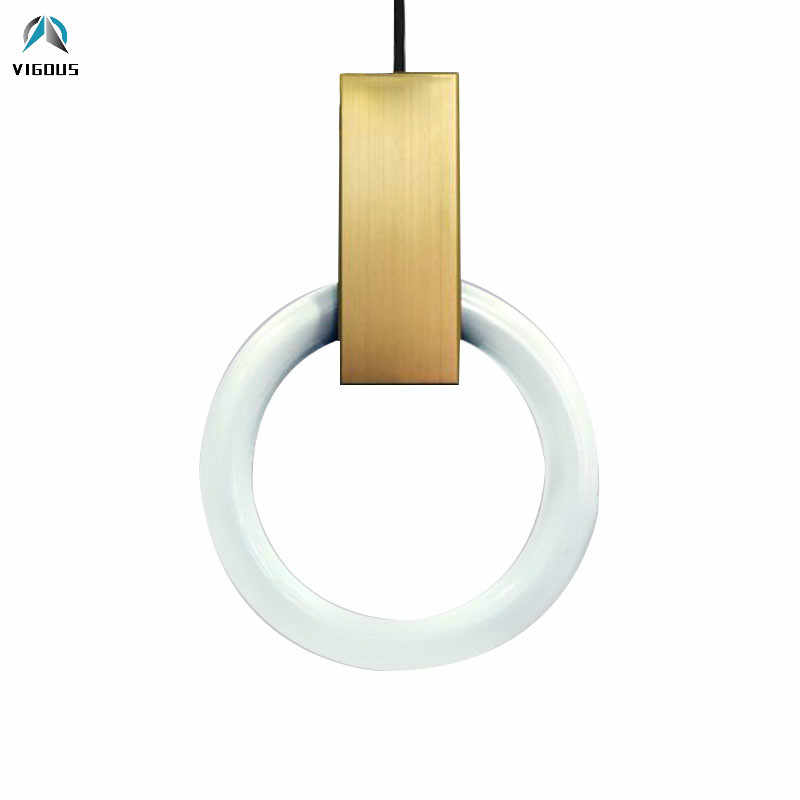 Modern Minimalism Lustre Gold T5 Led Pendant Lights Luminarias Lighting for Villa Stairs Led Light Indoor Lamp Fixtures