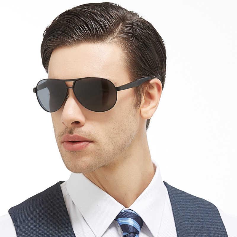 MADELINY, поляризационные солнцезащитные очки пилота, мужские спортивные солнцезащитные очки для вождения, мужские металлические солнцезащитные очки, UV400, MA118
