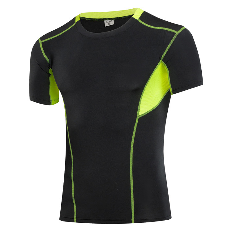 Quick Dry Men T Shirts Compression Running Workout Tees Tops Short Sleeve Men Sporting Shirt Elasitc Exercise Crossfit Clothes