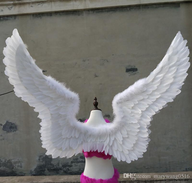 beautiful large size white angel wings creative Shooting props nice birthday gifts wedding decorations - 3