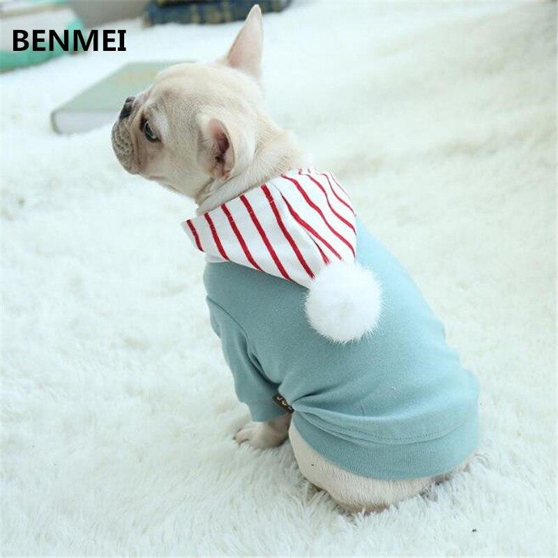 BENMEI Coton Pet Chiot Chien À Capuche Vêtements Manteau Veste Costumes Vert Jaune Tenue Chat Vêtements Bouledogue XS-3XL Printemps Vêtements