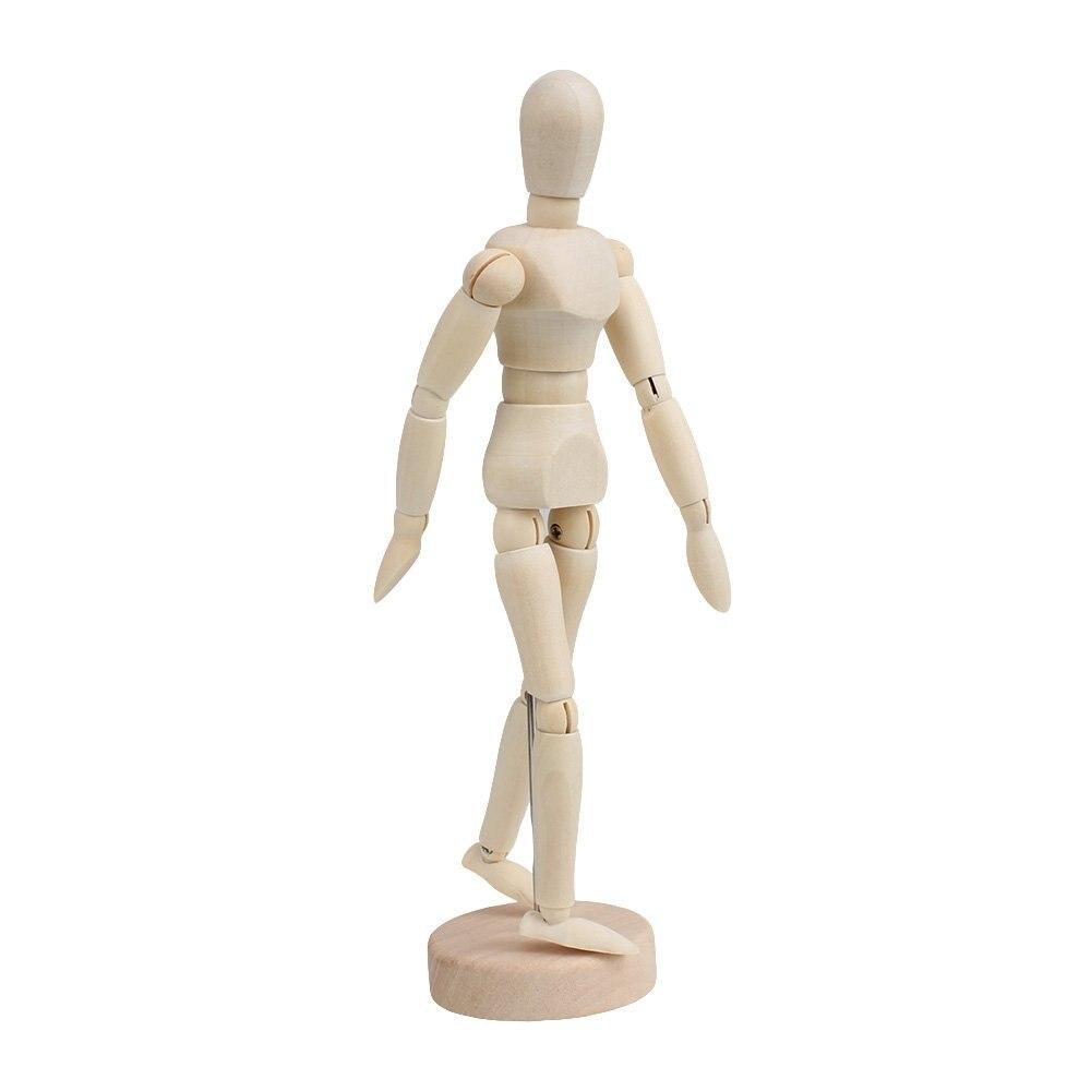 HOT SALE Wooden Human Mannequin 8 Inch Manikin Sketch Model Art/ARTIST Unisex Model new 2pcs female right left vivid foot mannequin jewerly display model art sketch