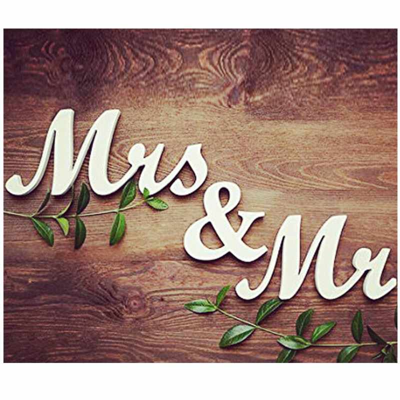 Wooden MR & MRS Wedding Supplies Wooden English Letter Decoration Wedding Photography Props