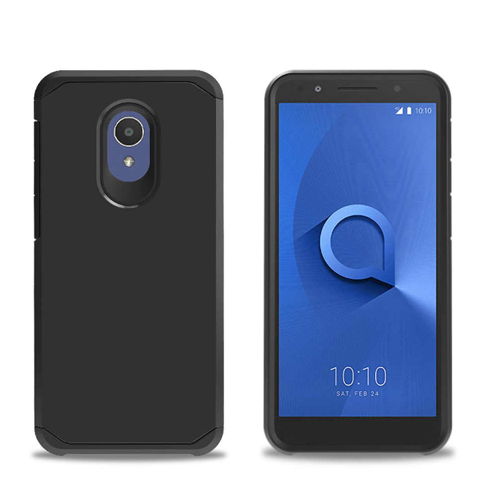 For Alcatel 1X Evolve /IdealXtra 5059R /TCL LX A502DL Case 2 In 1 Soft TPU  & Hard PC Back Heavy Duty Armor Case Shockproof Cover