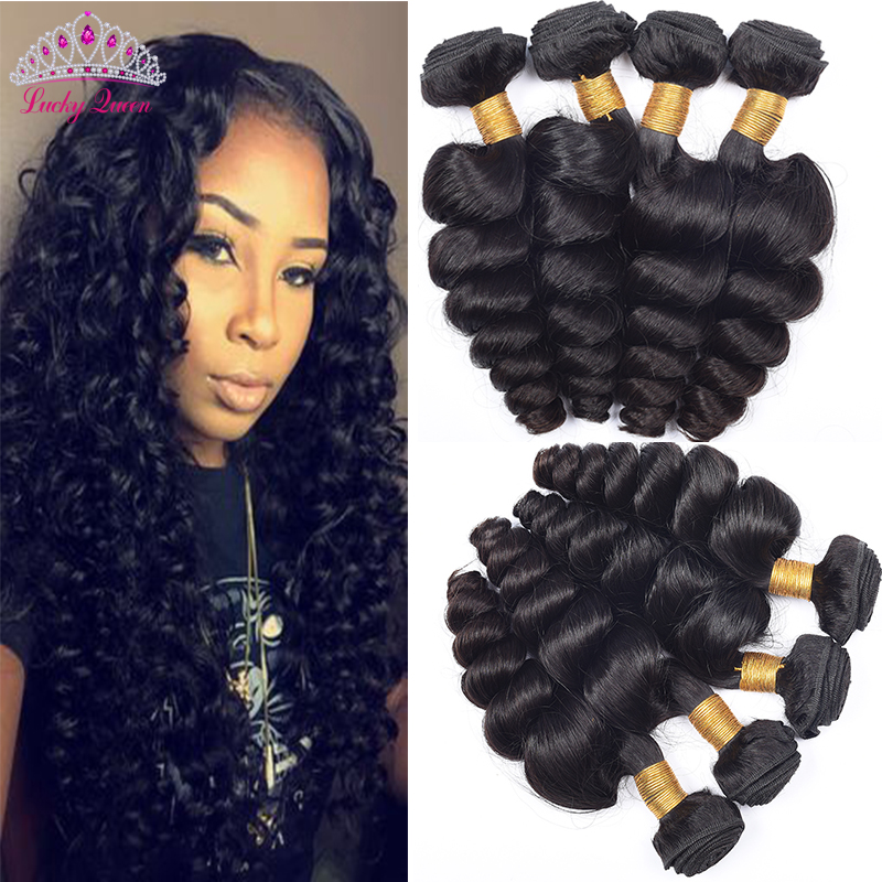 Malaysian Virgin Hair Loose Wave 4 Bundles Unprocessed Virgin Malaysian Hair Extension Human Hair Weave Bundles 100g Per Bundle