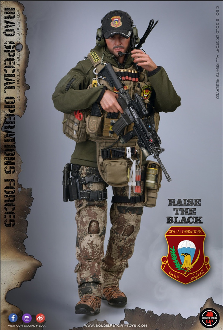 1//6 Scale Toy Irak Sof-Saw Gunner-Male Head Sculpt
