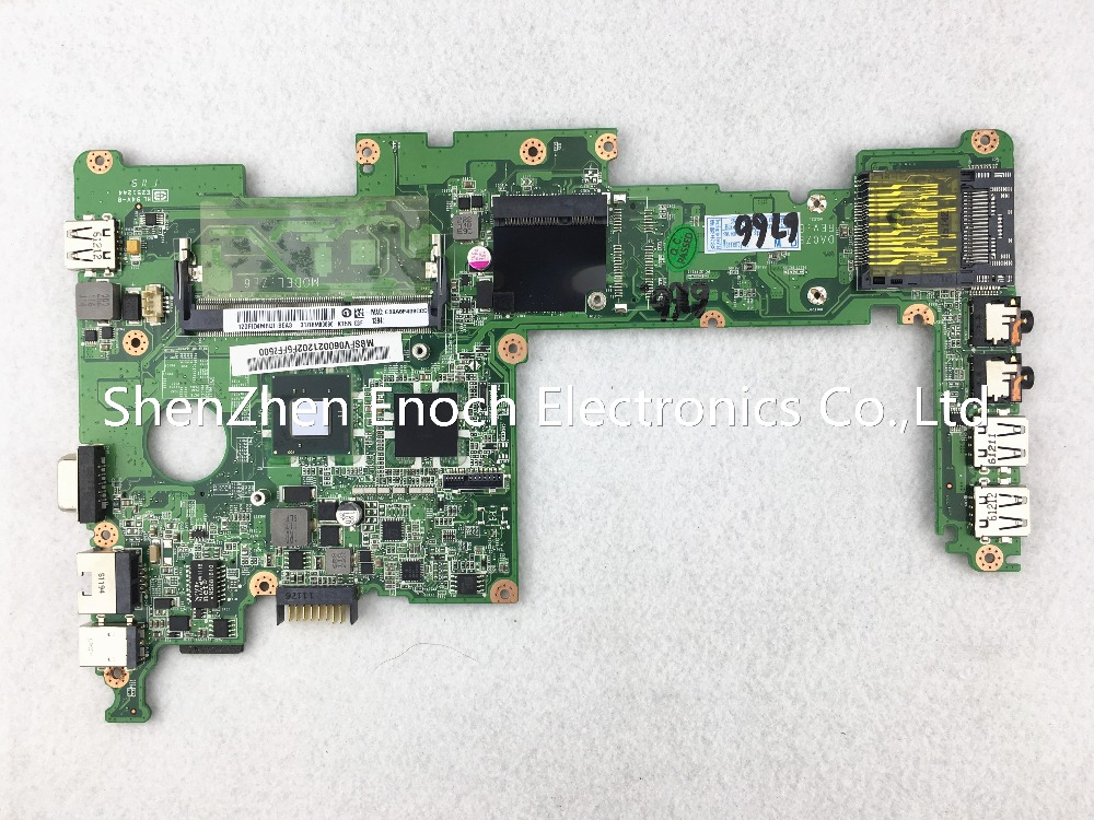 DA0ZE6MB6E0 For Acer ONE 257 D257 laptop motherboard integrated SLBXE N570 CPU stock No.347