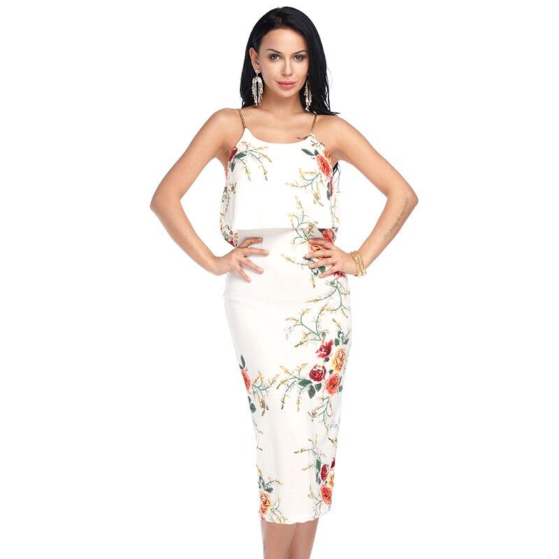 big sale 22e2c 43262 US $7.84 43% di SCONTO|Vestito Dalla Spiaggia di estate 2019 Delle Donne  Vestito Estivo Volant Floreale Vestito Bianco Lungo Vestito Sexy Vestito Da  ...