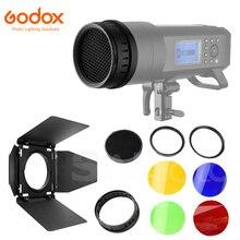 Godox BD 08 Barndoor nid dabeille grille quatre couleurs filtres Kit pour AD400Pro extérieur stroboscope Flash Photo effet déclairage accessoire