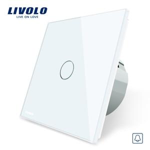 Image 2 - Livolo EU Standard, waterproof doorbell switch, Glass Panel Switch, 220~250V Touch Screen Door Bell Switch,VL C701B 1/2/3/5