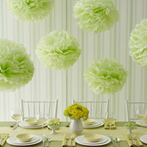 "1pcs mix size 5""6"" 8"" 10"" 12"" Tissue paper pom poms balls Wedding decoration baby shower party decoration supplies"