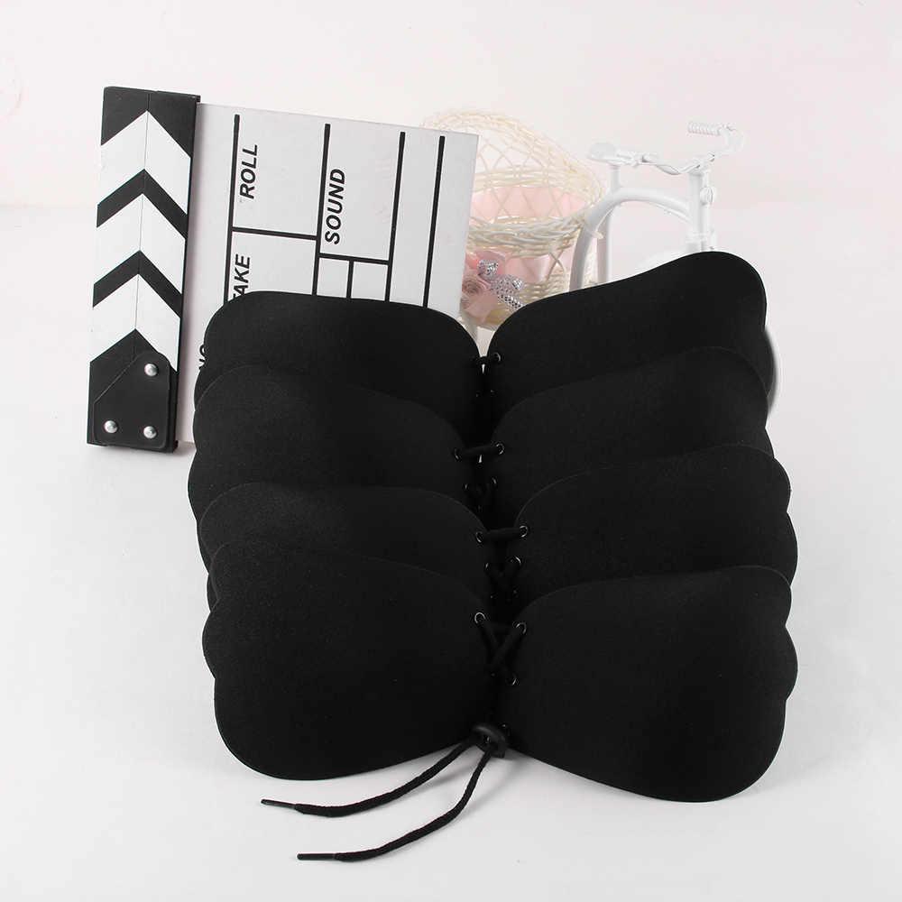 1 PCS Stylish Soft Adjustable Women Strapless Silicone Push-Up Backless Self-Adhesive Gel Magic Stick Invisible Bra