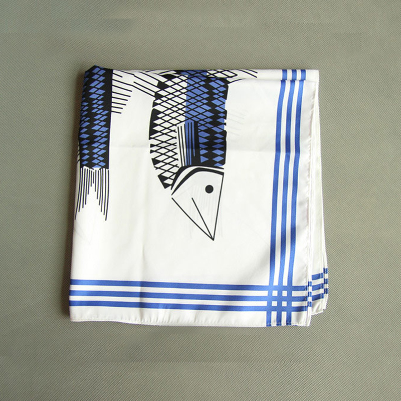 2018 Popular 55 * 55CM Man Paisley Flower Cartoon Pocket Square Men Casual Hankies Men's Suit Handkerchief Big Size Party Gift