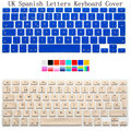 "UK Spanish Letters Keyboard Cover For Macbook Air Pro Retina 13 15 Laptop Protective Film Alphabet Stickers for Mac book 13"" 15"""