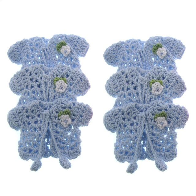 12 Stücke Mini Miniatur Häkeln Pullover Blume Baby Dusche Taufe