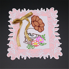 ZhuoAng Flower border Metal Cutting Mold DIY Scrapbook Album Decoration Supplies Clear Stamp Paper Card
