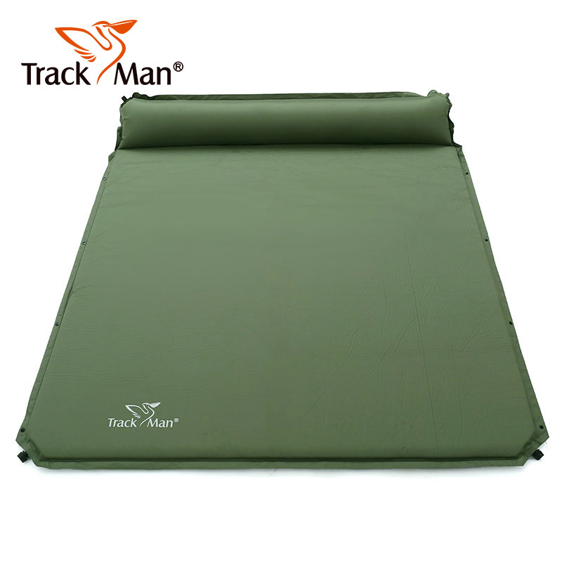 2 Person Outdoor Self-Inflating Sleeping Pad with Pillow Camping Tent Mat Travel Moisture-proof Mat - TM2224 high quality outdoor 2 person camping tent double layer aluminum rod ultralight tent with snow skirt oneroad windsnow 2 plus