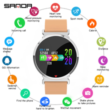 SANDA Smart Watch Band Silicone Mesh IP67 Waterproof Heart Rate Monitor Blood Pressure Men font b