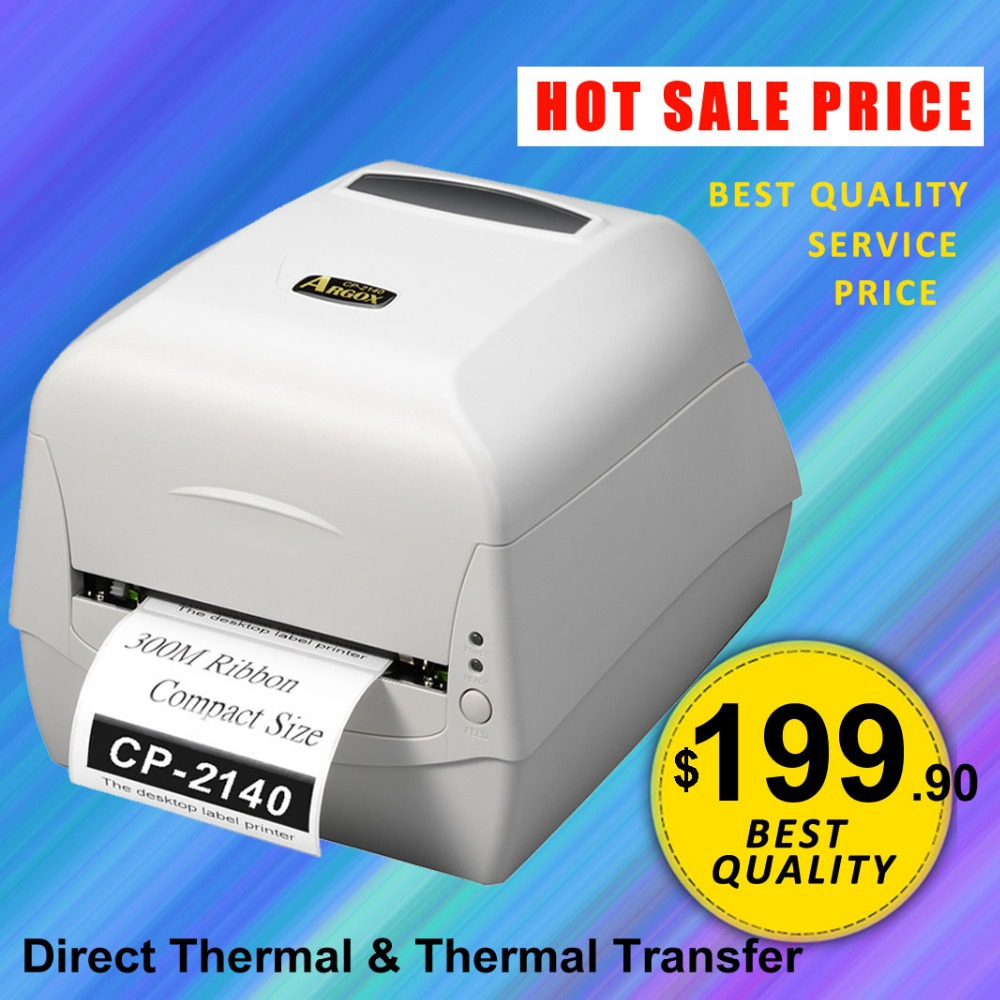 CP-2140 Desktop-Barcode-Drucker Argox CP2140 Direct Thermal & Thermal Transfer Printer kommerzieller Barcode-Etikettendrucker