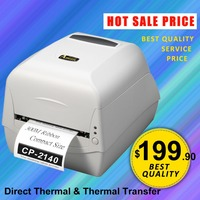 Desktop Barcode Printer CP2140 Direct Thermal Thermal Transfer Printer Commercial Barcode Label Printer