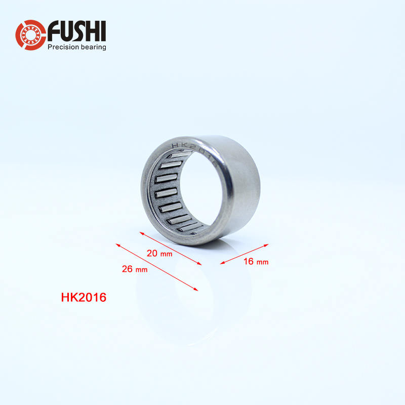 HK2016 20 x 26 x 16mm Drawn Cup Caged Drawn Cup Needle Roller Bearing