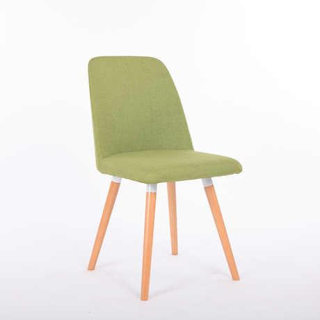 Кафе стулья кафе мебель твердой древесины + хлопок кофейный стул из ткани обеденный стул шезлонг минималистичный современный оптовая продажа 45*43*88 см