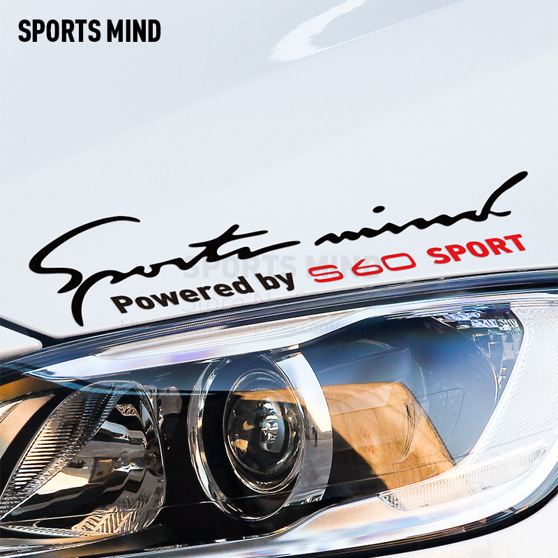 Sports Mind Car-Styling On Car Lamp Eyebrow Reflective material Decals Vinyl Car Sticker For volvo s60 car accessories