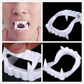 1pcs New Toy Vampire Fake Teeth For Halloween Party Prop Masquerade Cosplay Makeup Funny Dentures,horror toys,a137