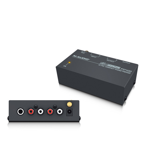 Ultra-compact Phono Preamp Preamplifier with RCA 1/4″ TRS Interfaces PP400