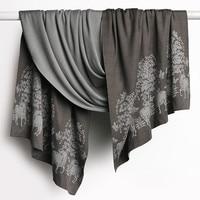 high grade double sided color silk cashmere blend women boutique vintage jacquard thick scarfs shawl pashmina 70x188cm 450g