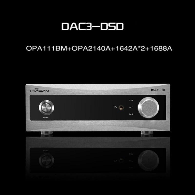 2017 New Trasam DAC3 HiFi Digital Audio Decoder Input USB/Coaxial/Optical  Loseless Player&Headphone Decoder smsl sd 793ii dir9001 pcm1793 opa2134 coaxial optical mini dac headphone amp black color