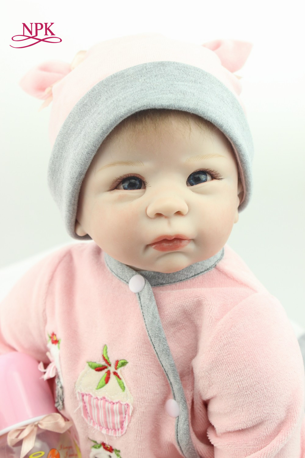 NPK reborn doll with soft real gentle touch free shipping 22inch reborn baby doll lifelike soft silicone vinyl