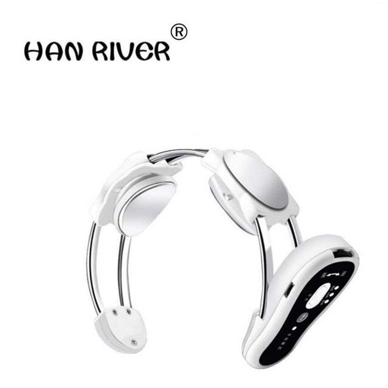 HANRIVER Wireless body care infrared electric heating neck massager relax cervical vertebra acupuncture stimulation therapy trea 2017 hot sale mini electric massager digital pulse therapy muscle full body massager silver