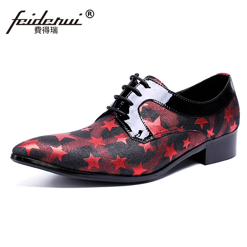 Plus Size Hot Sale Pointed Toe Derby Man Banquet Footwear Fashion Genuine Leather Wedding Party Men's Formal Dress Shoes SL451 hot sale mens genuine leather cow lace up male formal shoes dress shoes pointed toe footwear multi color plus size 37 44 yellow