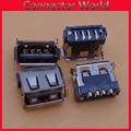 10 1000 teile/los micro usb 2 0 ladeanschluss jack 4pin 180 grad ansicht dock stecker schwarz buchse stecker motherboard kurzen körper|usb 4pin|4pin femalejack plug connector -