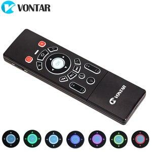 Image 2 - VONTAR T6 Plus Backlit 2.4Ghz chuột Bàn Phím Không Dây mini & Bàn di chuột Điều Khiển từ xa dành cho Android TV Box Mini máy Chiếu cho PC