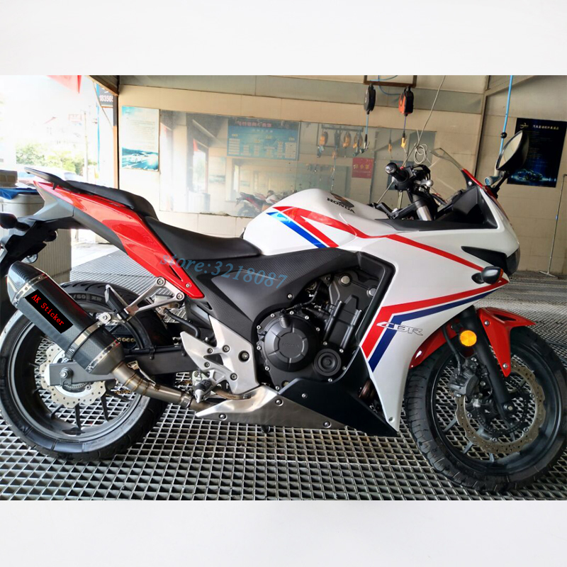 Motorcycle Full System Exhaust Modified Muffler Stainless Steel Middle Link Middle For HONDA CBR500 CBR500R CBR300 DB Killer цена