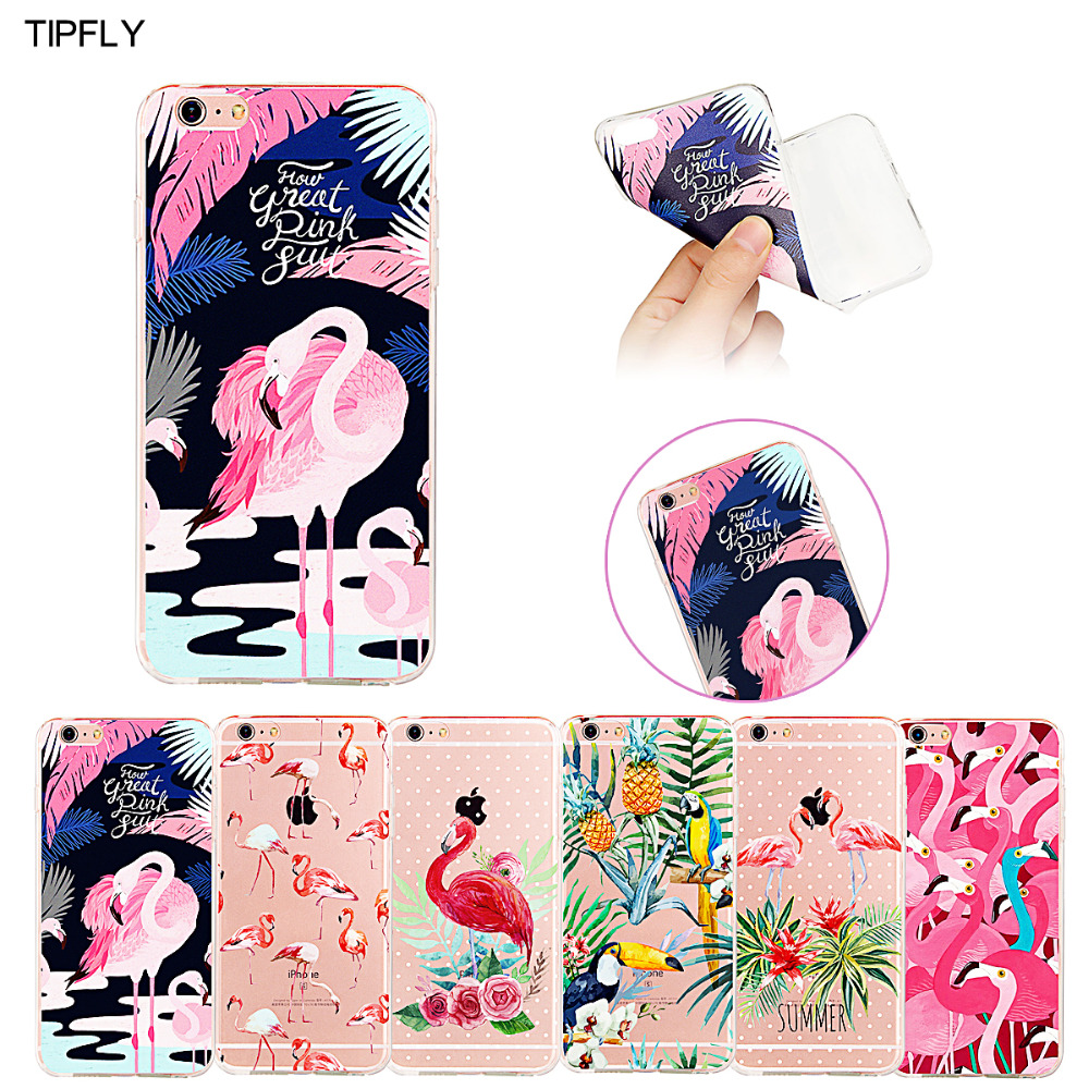 Case for Apple iPhone 6 6s 6 Plus 6s Plus Hollow Flamingo Series Fashion Lovely Ultra