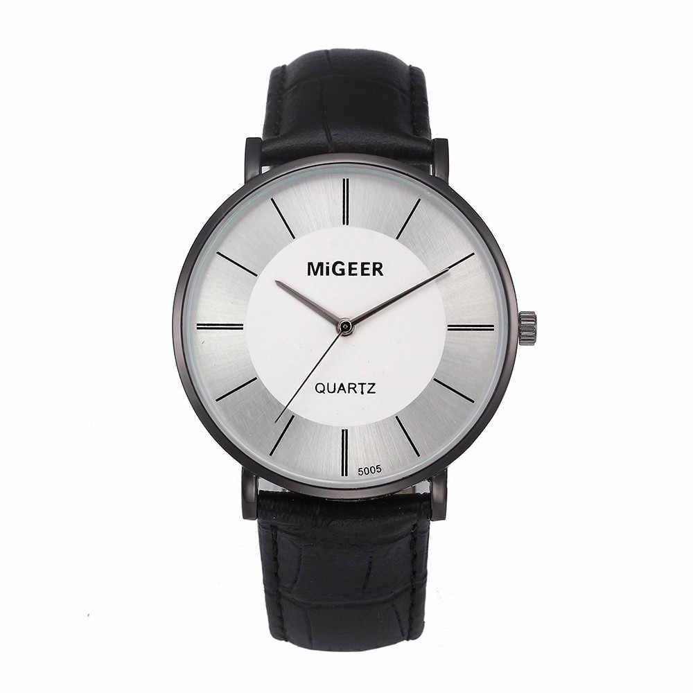 Relojes para hombre elegante y sencillo reloj con correa de temperamento para hombre zegarek meski orologo uomo reloj hombre marca de lujo