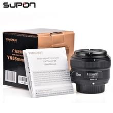 Yongnuo 35mm 1:2 f2.0 af/mf lens para nikon f monte câmeras dslr lente grande-angular af/mf fixo/prime foco anto