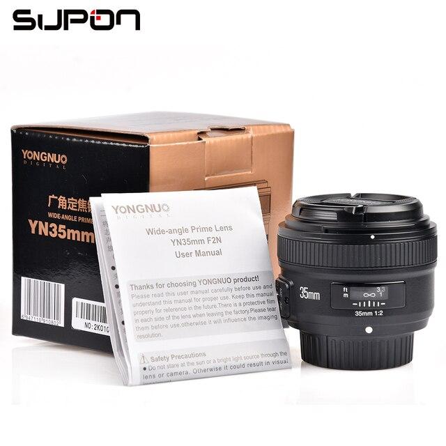 YONGNUO 35mm 1:2 F2.0 AF/MF Lens for Nikon F Mount DSLR Cameras Wide-Angle AF/MF Fixed/Prime Anto Focus YN35mm F2N Lens