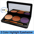 New fashion 3 color beauty naked Eyeshadow Palette makeup set Luminous Eye Shadow Palette warm maquiagem Cosmetics naras brushes
