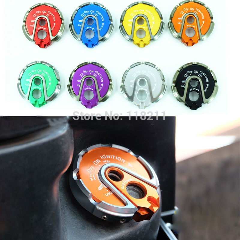 Aluminum 8 color Ignition Key Lock Cap Cover For YAMAHA BWS ZUMA CYGNUS-X Flame GTR JOG RSZ 100 125 motorcycle scooter electroplate front headlight headlamp head light lamp small mask cap cover shield large for yamaha bws x 125