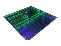 Раша Новое поступление 80 Вт 50 см * 50 см 432 шт. F10 RGB 3D зеркало туннель LED танцпол DMX512 участник событий привело танцпол украшения