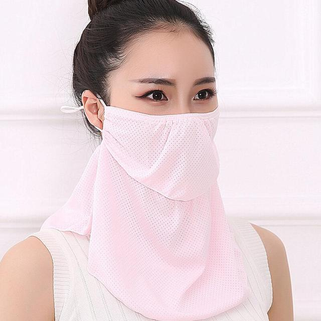Summer Spring Breathable women neck protection face mask sun protective Shade anti-dust mask Mouth-muffle Mask Flu Face masks 2